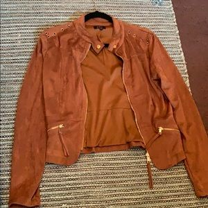 Red/Brown Suede Jacket